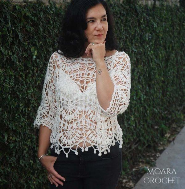 Crochet Sweater Pattern Kiara by Moara Crochet