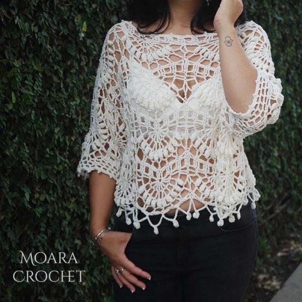 Crochet Top Pattern Kiara by Moara Crochet