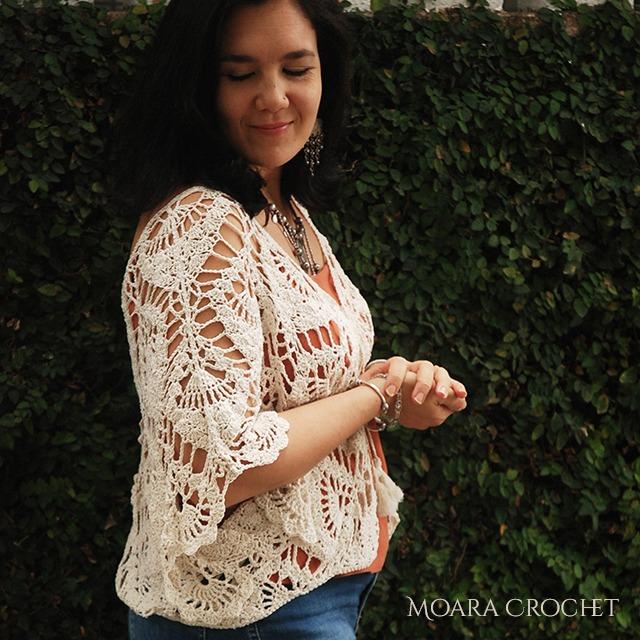 Linen Crochet Top Pattern - Moara Crochet