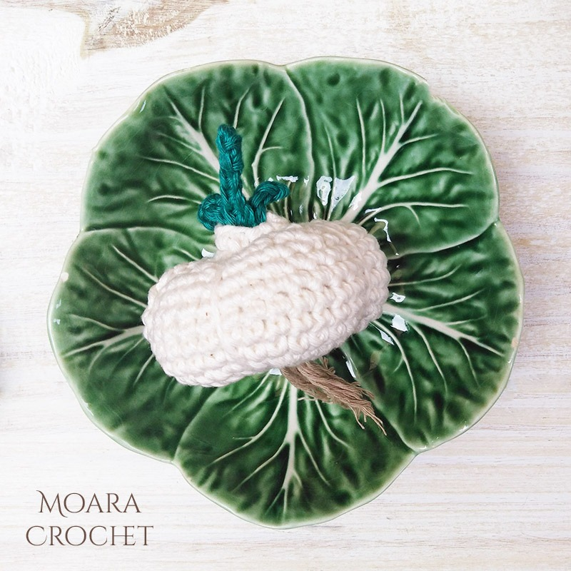 Free Crochet Garlic Pattern - Moara Crochet