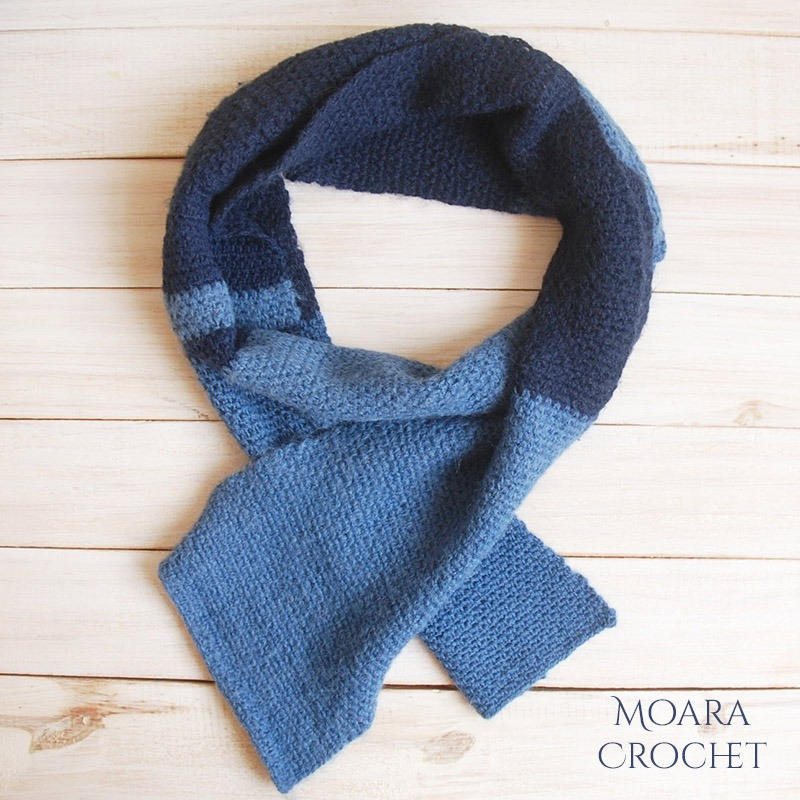 Easy Crochet Scarf Patterns - Moss Stitch Moara Crochet
