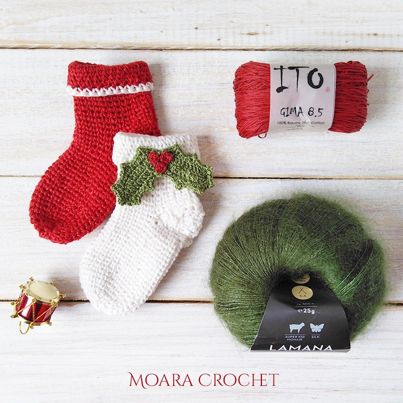 Crochet Christmas Stocking Pattern - Moara Crochet