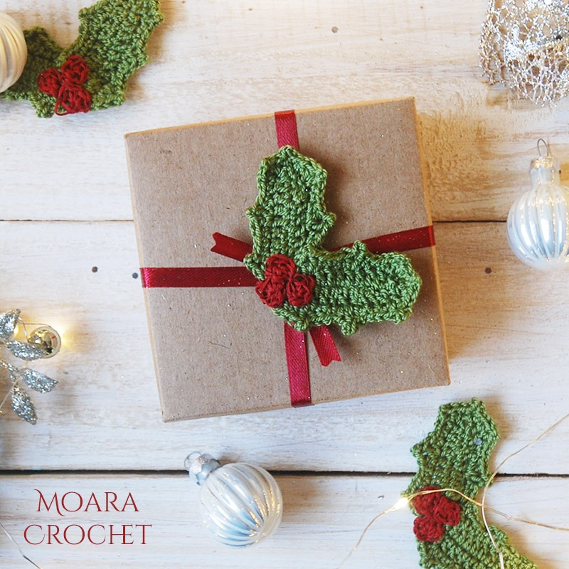 Crochet Holly Leaf Free Christmas Crochet Patterns - Moara Crochet