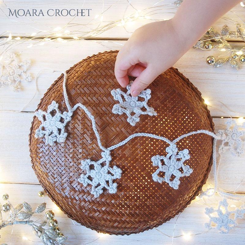 Crochet Snowflake Pattern - Moara Crochet