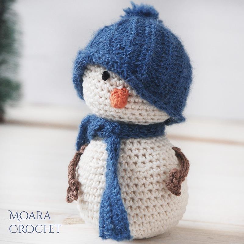 Crochet Snowman Pattern Free - Moara Crochet Blog