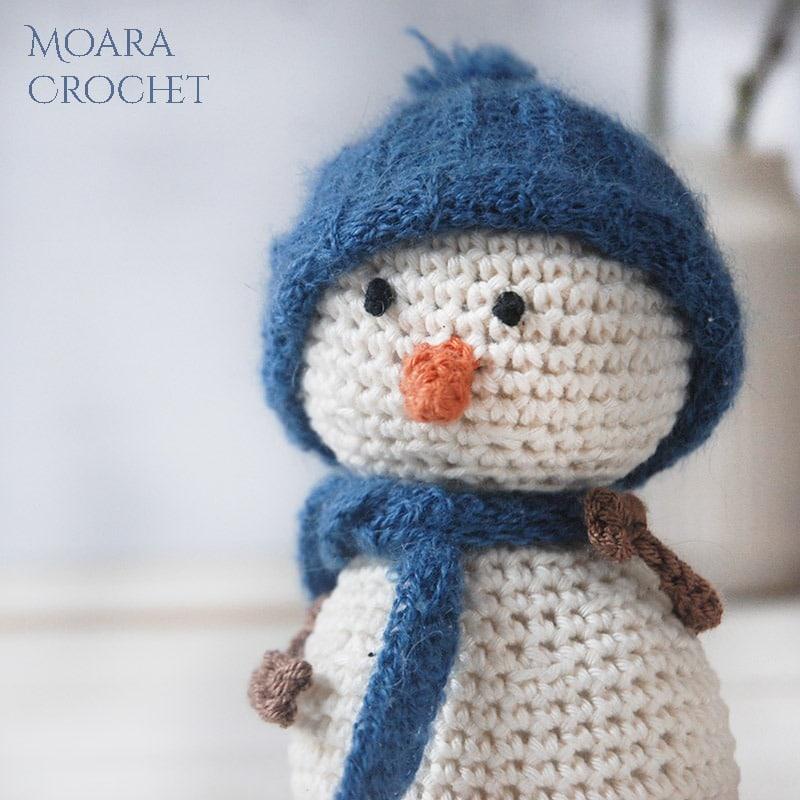 Crochet Snowman Pattern - Moara Crochet