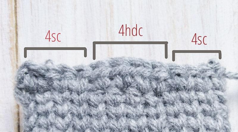 Crochet sock heel 2 - Moara Crochet