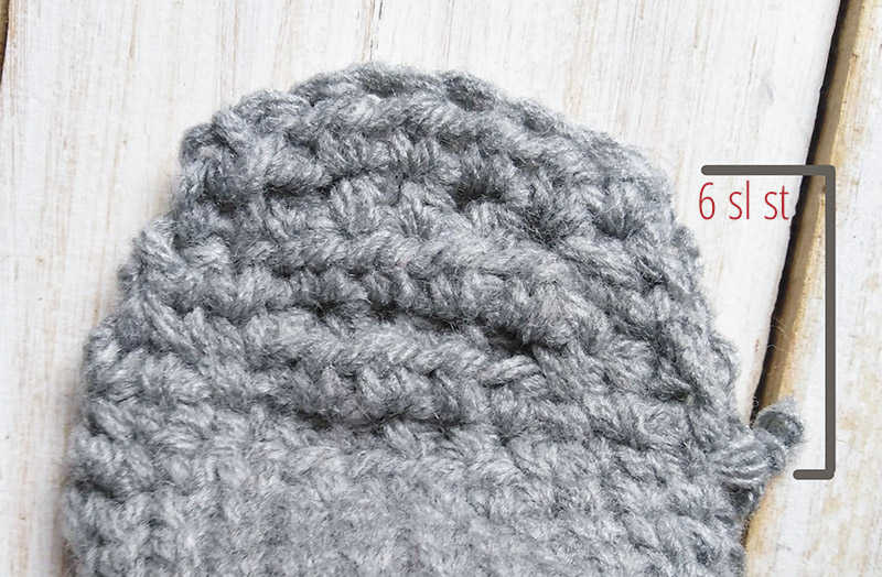 Crochet sock heel 4 - Moara Crochet