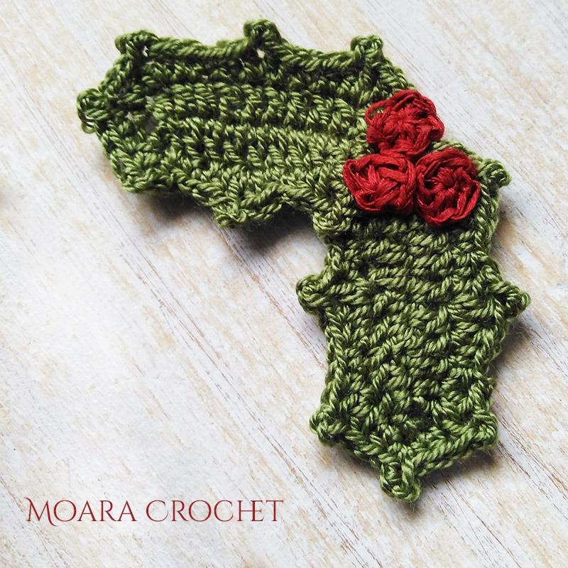 Free Crochet Holly Pattern - Moara Crochet