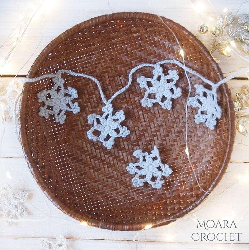 Free Crochet Snowflake Pattern - Moara Crochet