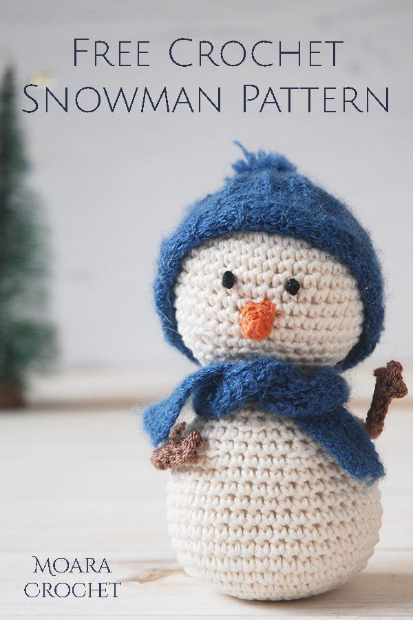 Free Crochet Snowman Pattern from Moara Crochet