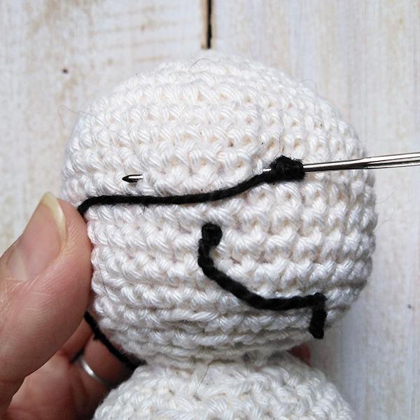 Snowman Face 2- Moara Crochet