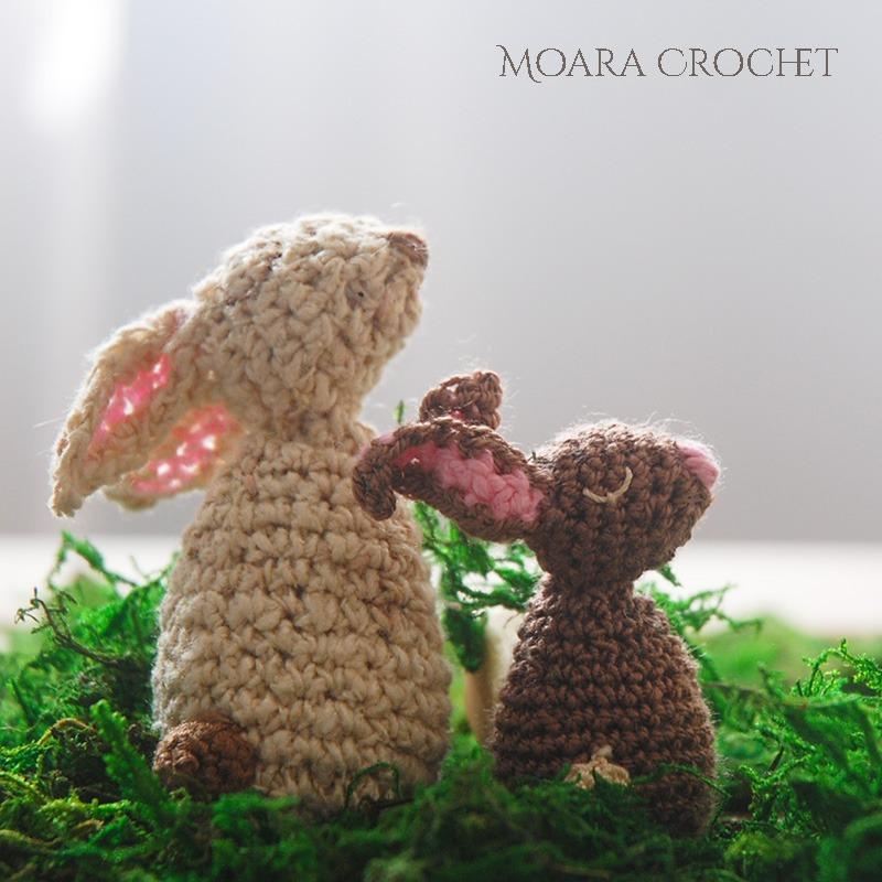 Crochet Bunny Pattern Free Tutorial- Moara Crochet