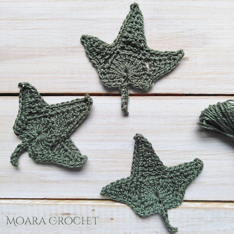 Free Crochet Ivy Leaf Pattern - Moara Crochet