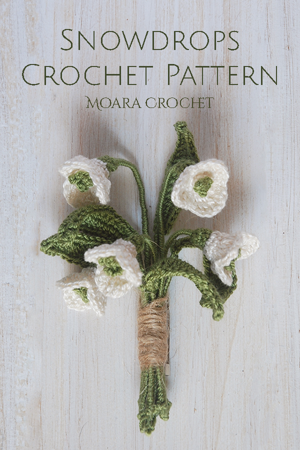 Free Crochet Snowdrops Pattern Moara Crochet