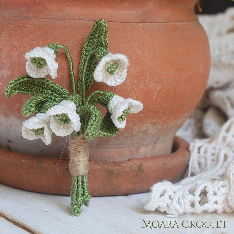 Snowdrops Crochet Pattern - Moara Crochet