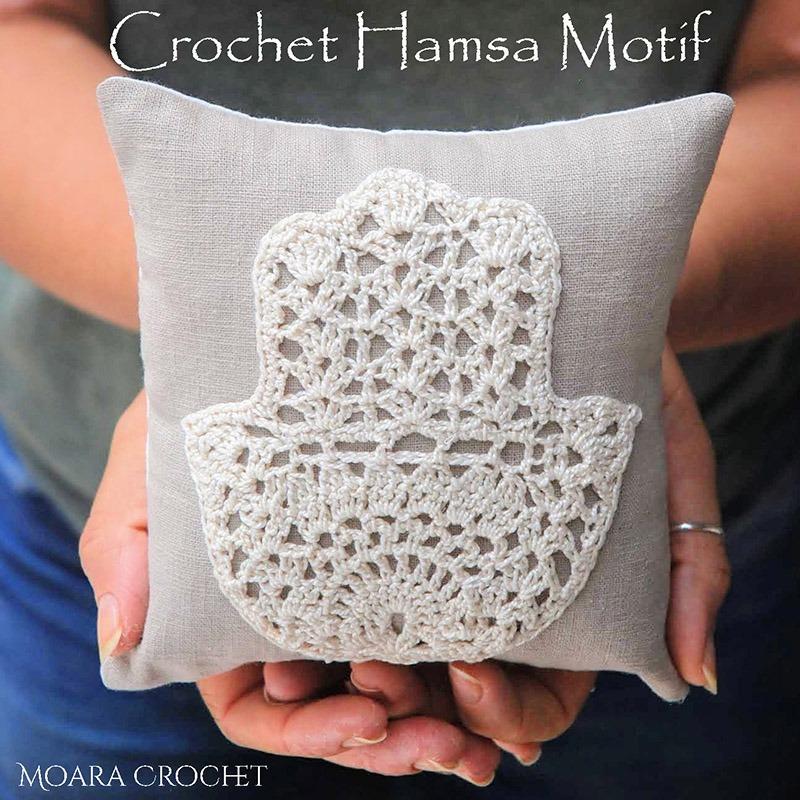 Crochet Hamsa Motif -Moara Crochet