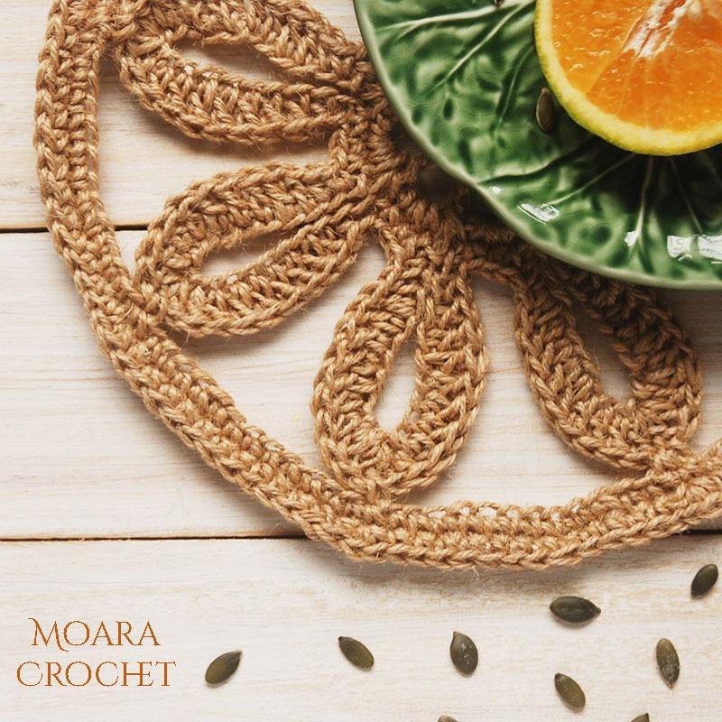 Free Crochet Patterns - Crochet Placemat Details- Moara Crochet