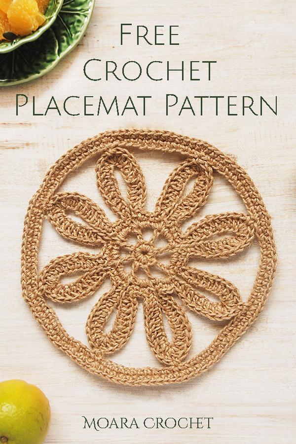 Free Crochet Placemat Tutorial - Moara Crochet