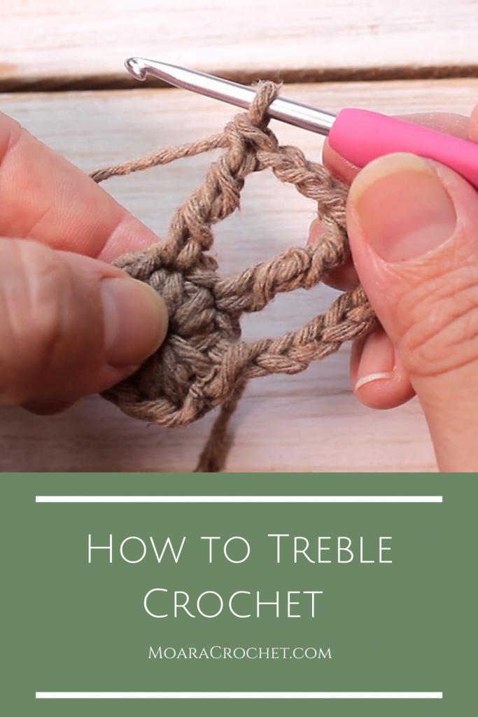 How to Treble Crochet Tutorial with Moara Crochet