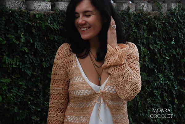 Boho Caridigan by crochet artist Roseanna Murray of Moara Crochet