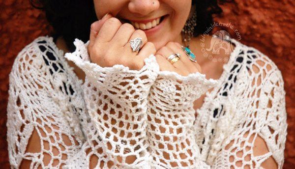 Crochet Boho Tunic Saffron - Moara Crochet