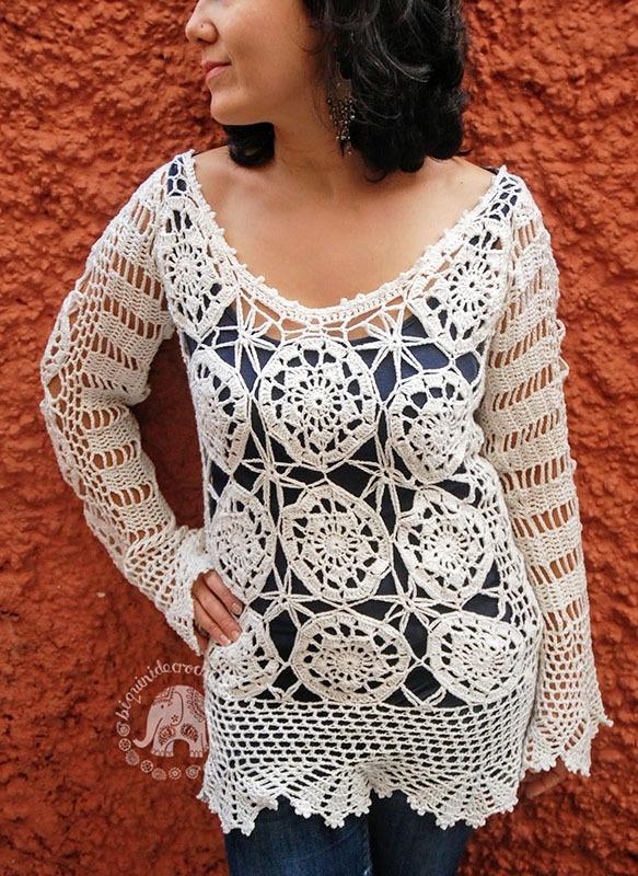 Crochet Top Pattern Saffron Moara Crochet
