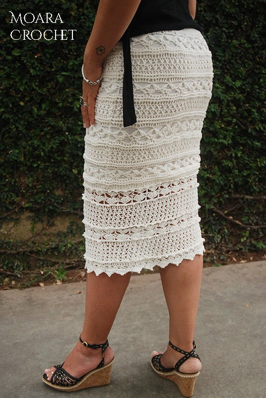 Crochet Womens Clothes Sophia Skirt Moara Crochet