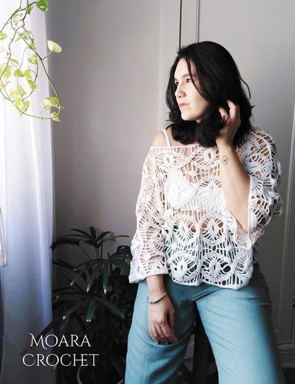 Evil Eye Crochet Sweater - Moara Crochet