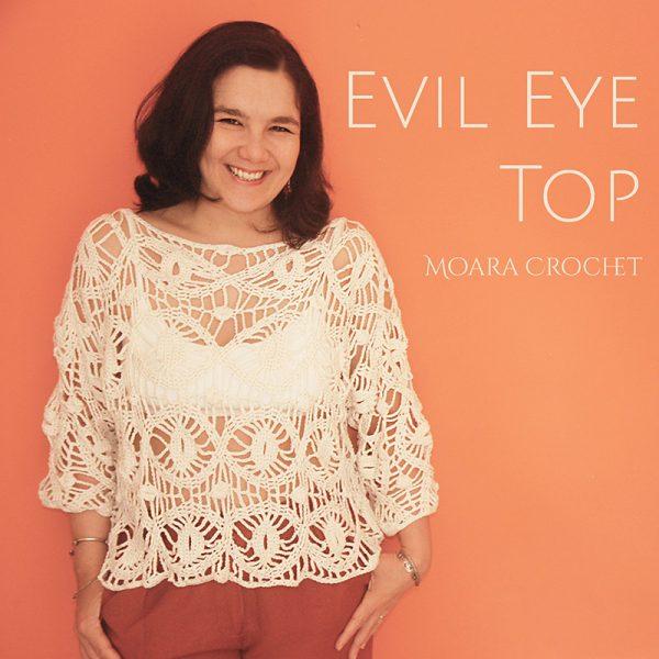 Evil Eye Crochet Top Pattern - Moara Crochet