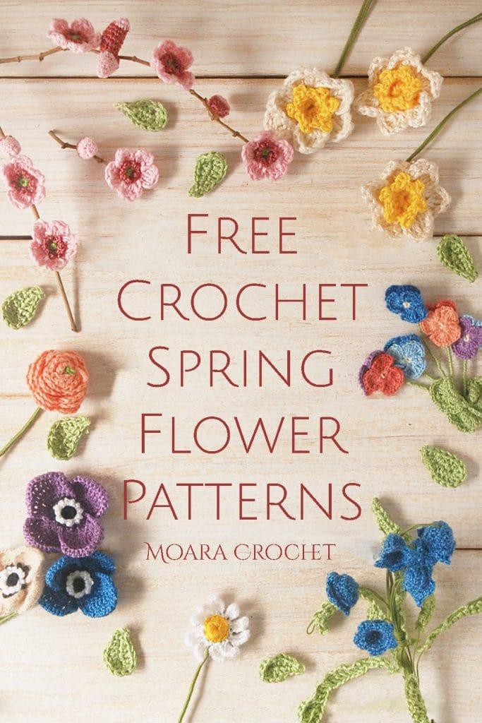 Free Crochet Flowers Patterns Spring - Moara Crochet
