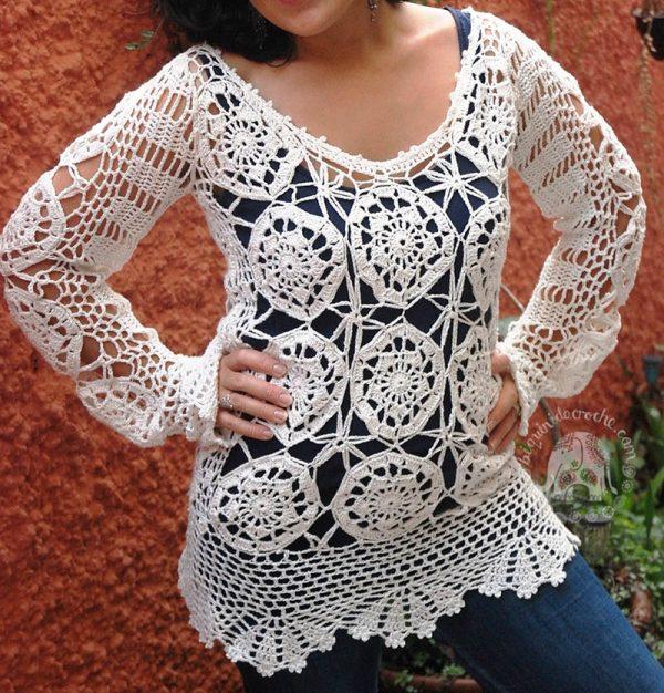 Saffron Crochet shirt pattern- Moara Crochet