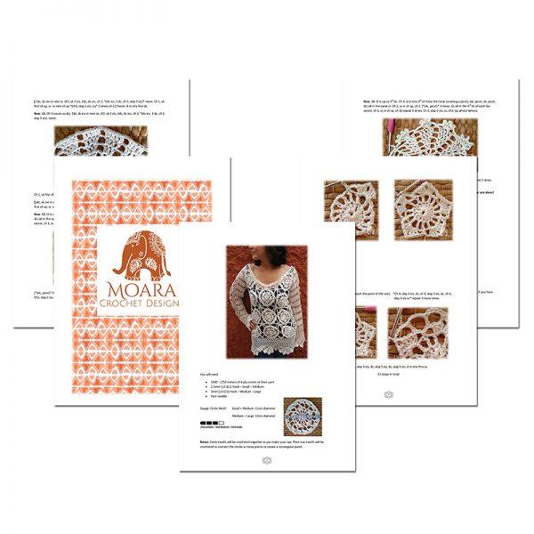 Saffron Tunic Crochet Pattern Moara Crochet Sample