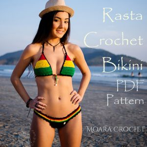Crochet Rasta Bikini Pattern by crochet artist Roseanna Murray