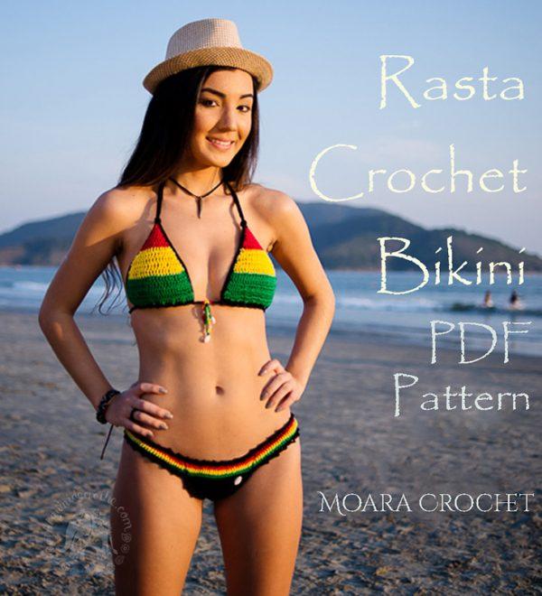 Crochet Rasta Bikini Pattern by crochet artist Roseanna Murray