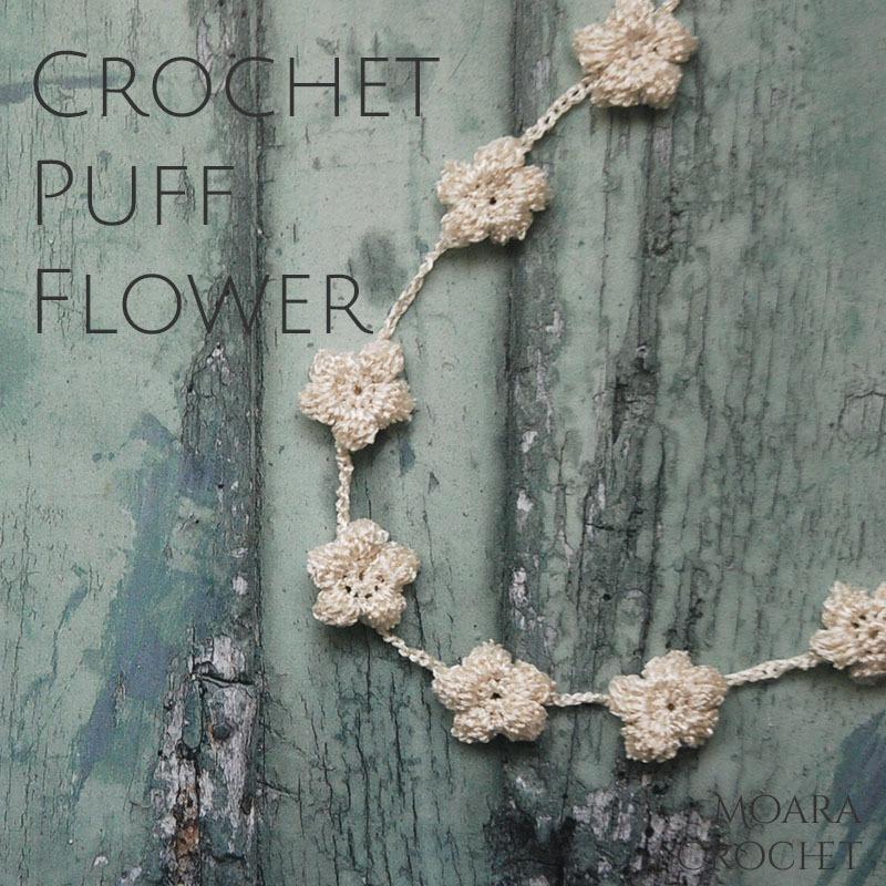 How to Crochet Puff Flower with Moara Crochet